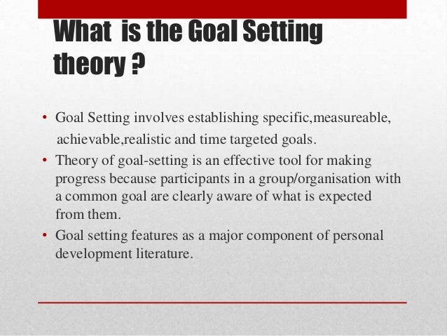 goal setting theory toyota Goal setting is the process of deciding what you want to accomplish and devising a plan to achieve the result you desire for entrepreneurs, goal setting is an important part of business planning.