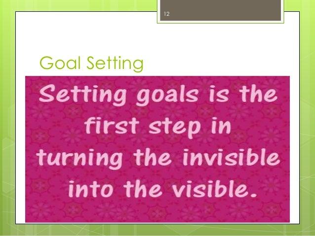 Goal Setting  12