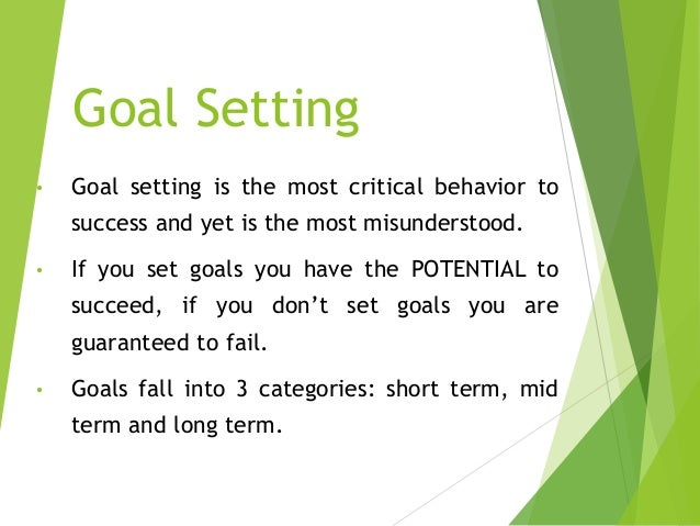 goal setting and time management