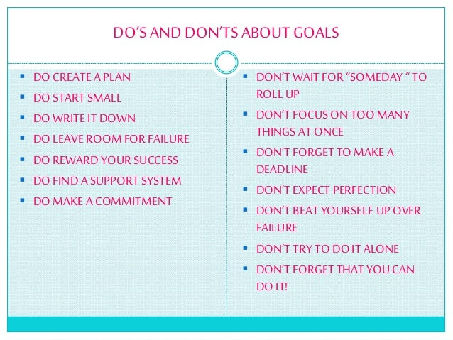 goal setting and types of goals