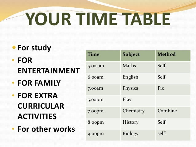 ORGANISE YOURSELF AND SAVE TIME; 24. YOUR TIME TABLE ...  sc 1 st  SlideShare & Goal setting