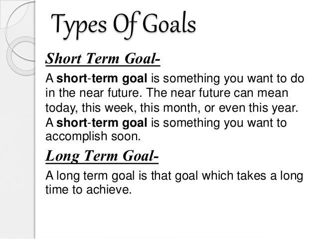 PPT on Goal Setting