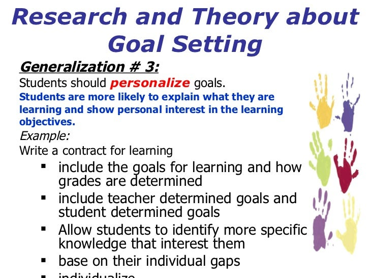 setting goals and objectives pdf