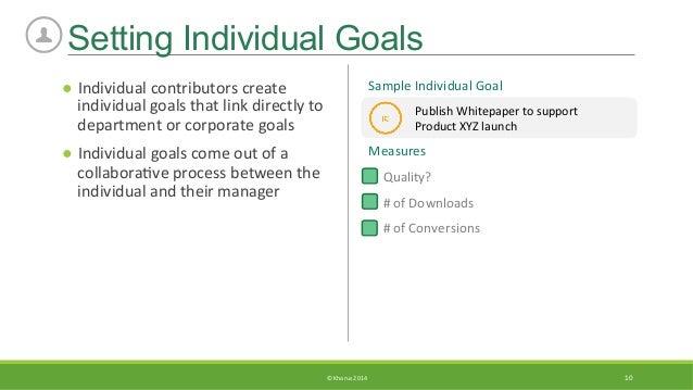 sample goals