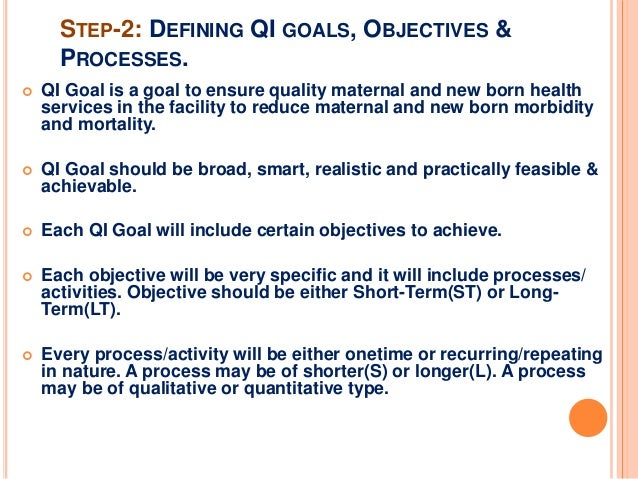 Goal Setting For Quality Improvement Process In Health
