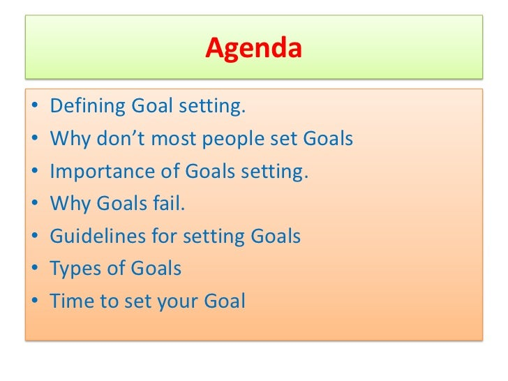 thesis statement on goal setting
