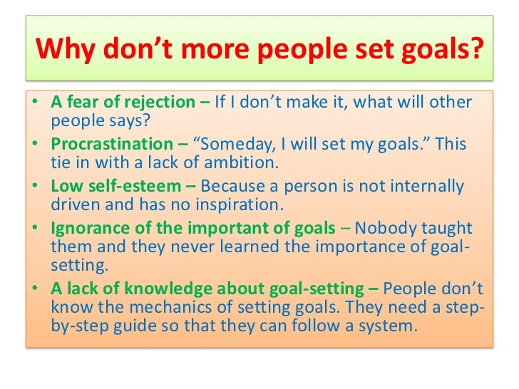 How establishing goals can help essay