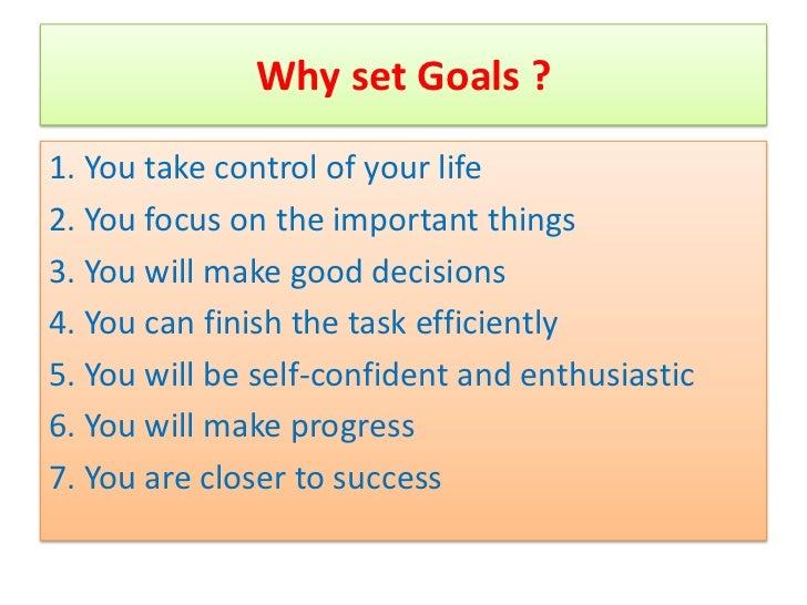 Goal setting ppt