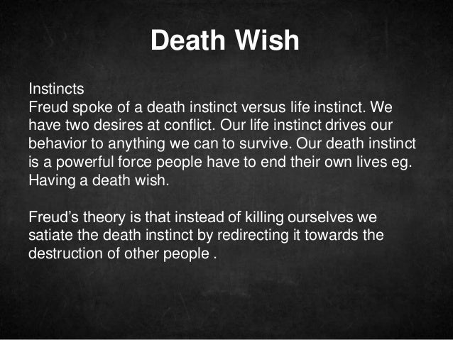 Your Death Drive is out to destroy you. Tame it.