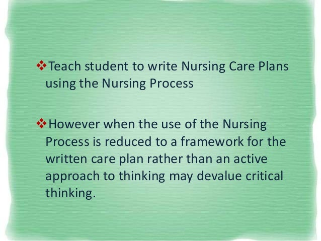 critical thinking as a student nurse This course covers how to enhance critical thinking skills and reflection in any nursing setting critical thinking applied to real nurse student to write a.