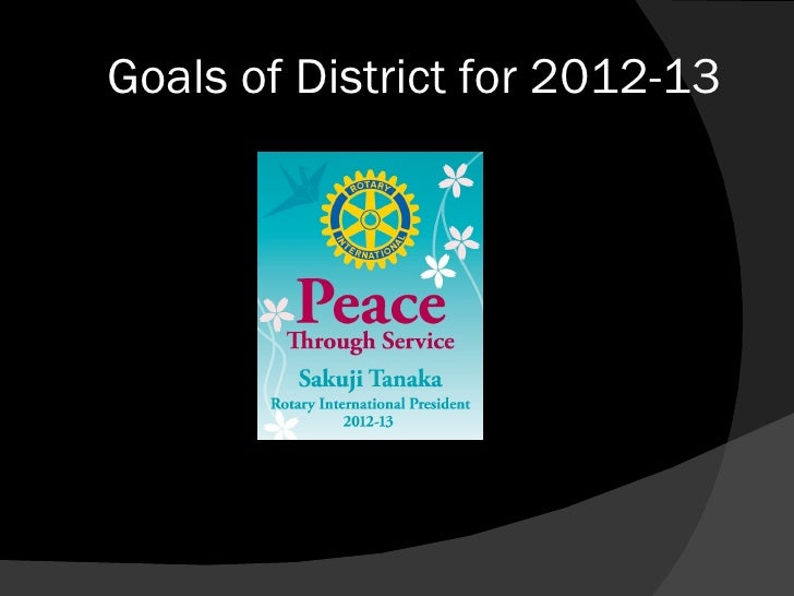 Goals of District for 2012-13