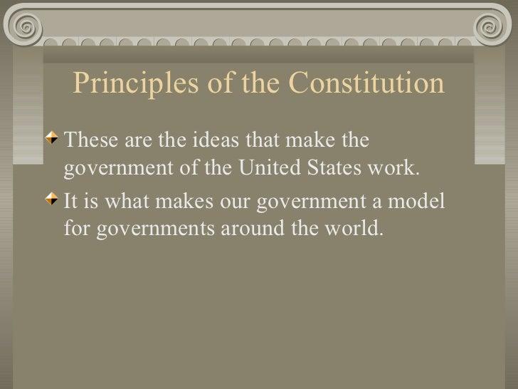 Goals Amp Principles Of The Us Constitution