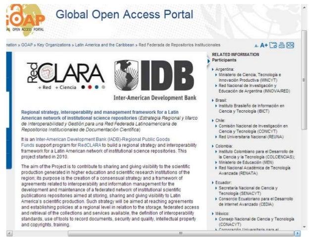 Más información • GOAP – UNESCO Global Open Access Portal • GOAP – Latin America and the Caribbean • Informe de la Consult...
