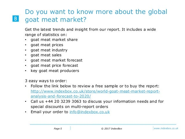 Goat Meat Market Report – Global Trade, Growth, Trends and