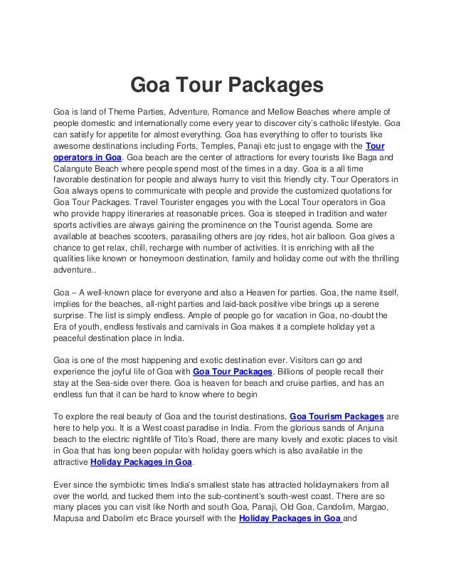 Goa tour package goa tour packages goa is land of theme parties adventure romance and mellow beaches solutioingenieria