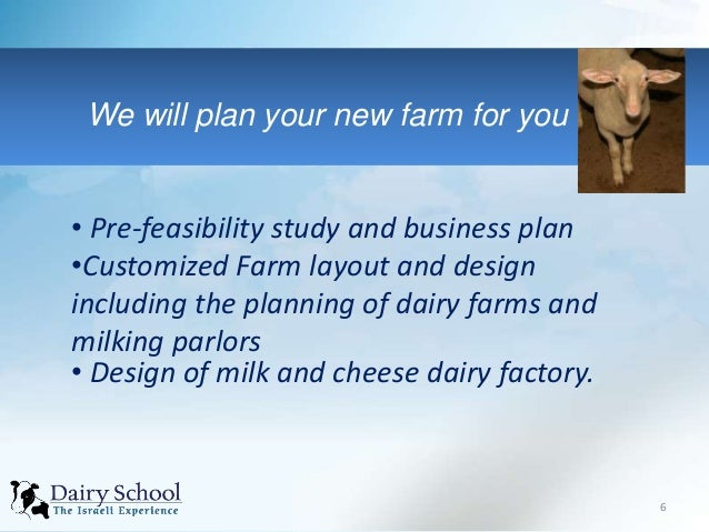 new dairy farm business plan