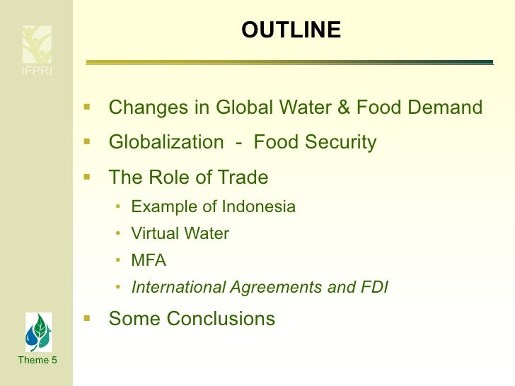 Impact of globalization on water and food security Slide 3