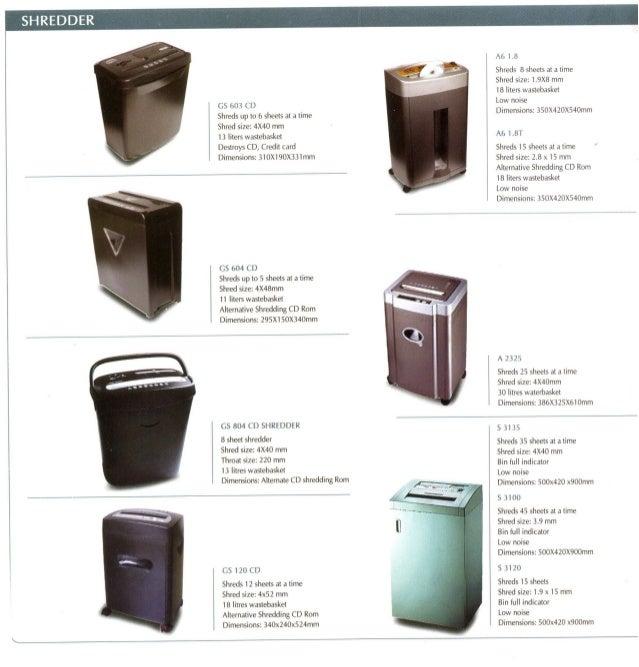Gobbler Paper Shredders catalogue  2011