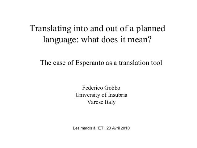 Translating into and out of a planned language what does for What does diction mean