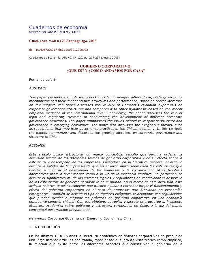Cuadernos de economíaversión On-line ISSN 0717-6821Cuad. econ. v.40 n.120 Santiago ago. 2003doi: 10.4067/S0717-68212003012...
