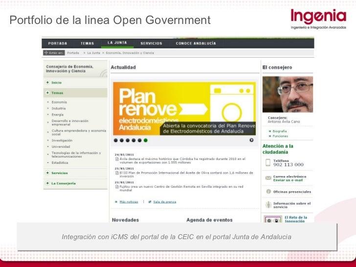 Gobierno abierto y apertura de datos publicos jslweb 2 0 - Oficina virtual junta de andalucia ...