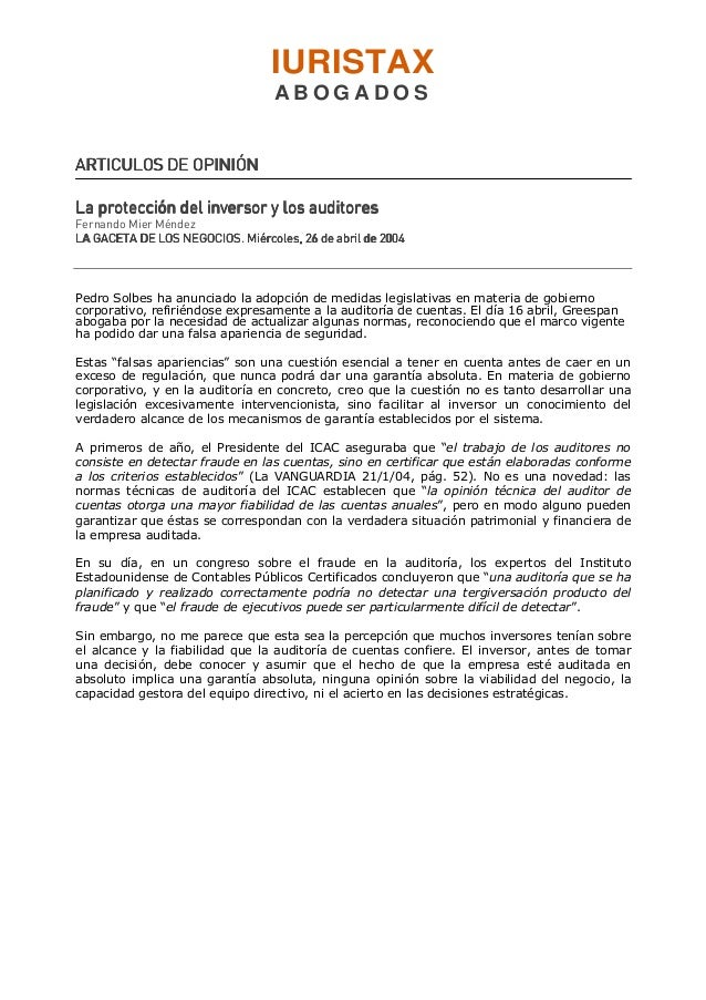 IURISTAXA B O G A D O SARTICULOS DE OPINIÓNARTICULOS DE OPINIÓNARTICULOS DE OPINIÓNARTICULOS DE OPINIÓNLa protección del i...