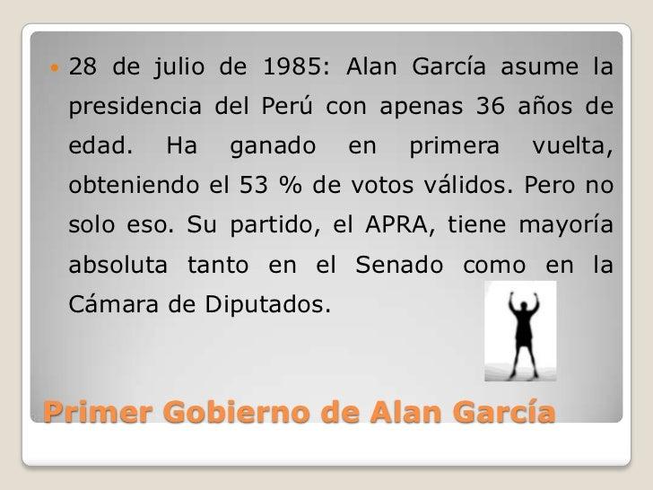 Gobierno De Alan GarcíA PéRez (1985 1990) Slide 3