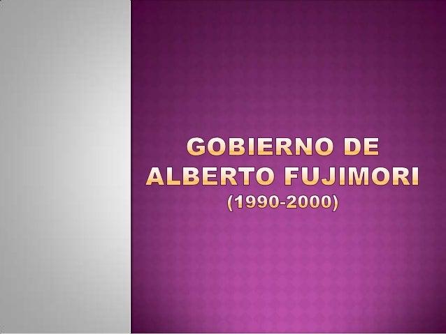 En las elecciones de 1990 Fujimori fue uncandidato de presencia republicana y fundacambio 90.con el lema honradez, tecnolo...