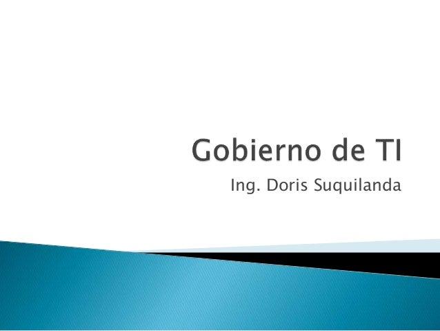 Ing. Doris Suquilanda
