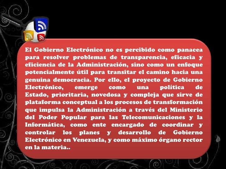 Gobierno Electrónico Slide 3