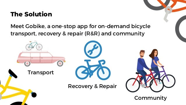 Meet Gobike, a one-stop app for on-demand bicycle transport, recovery & repair (R&R) and community Transport The Solution ...
