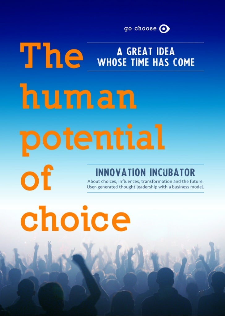 GoChoose: The Human Potential of Choice article v5 23 02-2012