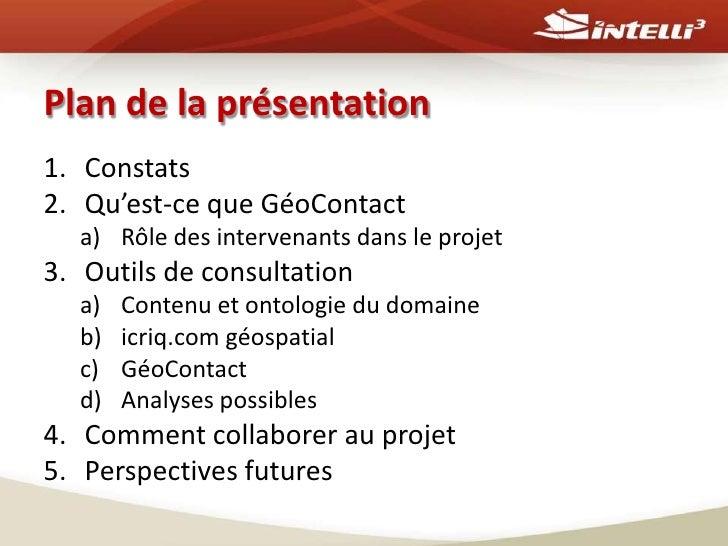 Géocontact -un répertoire géodécisionnel des entreprises en géospatial au Québec Slide 2