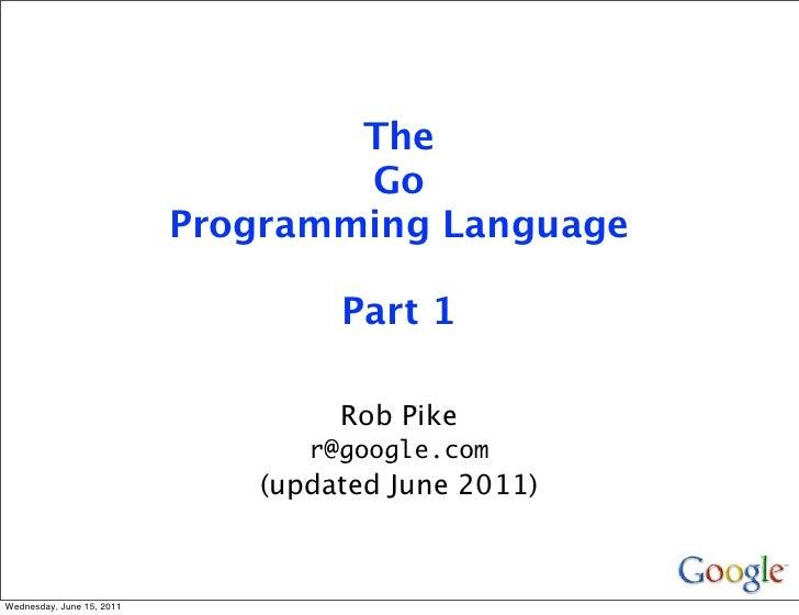 The                                   Go                           Programming Language                                   ...