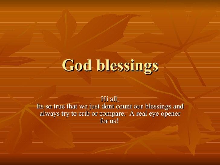 God Blessings