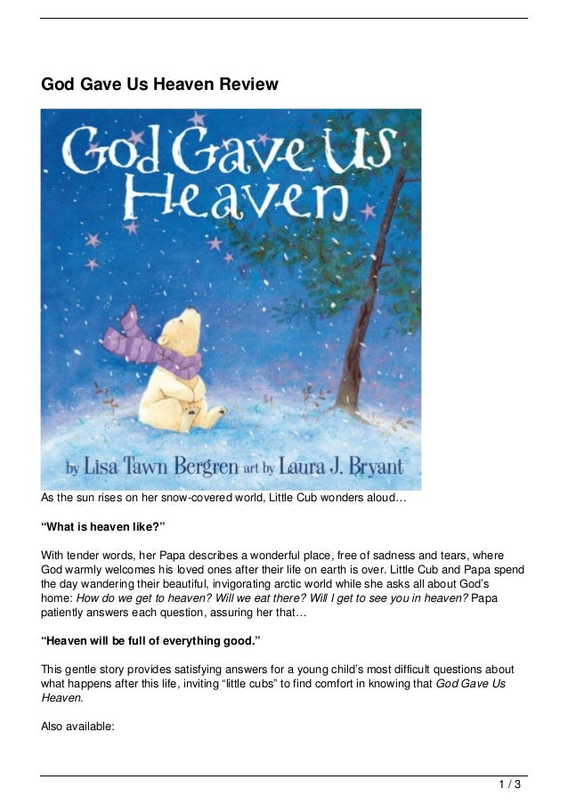 God Gave Us Heaven ReviewAs The Sun Rises On Her Snow Covered World