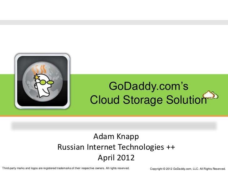 GoDaddy.com's                                                                      Cloud Storage Solution                 ...
