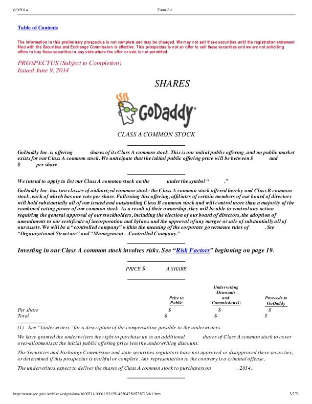 GoDaddy finally files to go public: S-1 IPO FIling