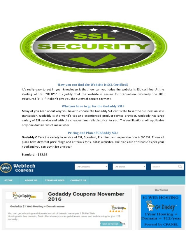 Godaddy Coupon And Promo Codes For More Discount