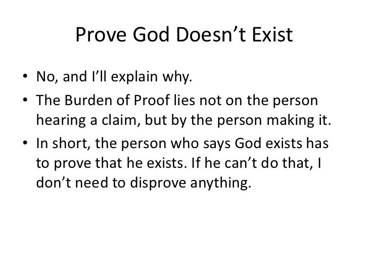 proving god exist How to know god exists: scientific proof of god [ray comfort] on amazoncom free shipping on qualifying offers how to know god exists answers many evolution books on the best–seller list.