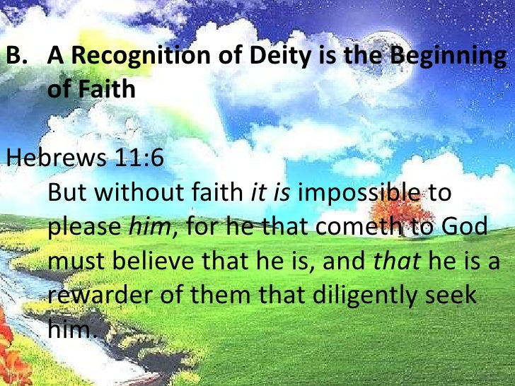<ul><li>  Scripture recognizes that men not only know of theexistence of God, but that men also have a certain understandi...