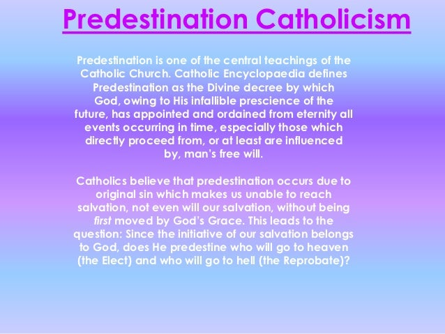freewill and predestination Predestination and election are biblical concepts predestination and/or election does not affect your salvation.