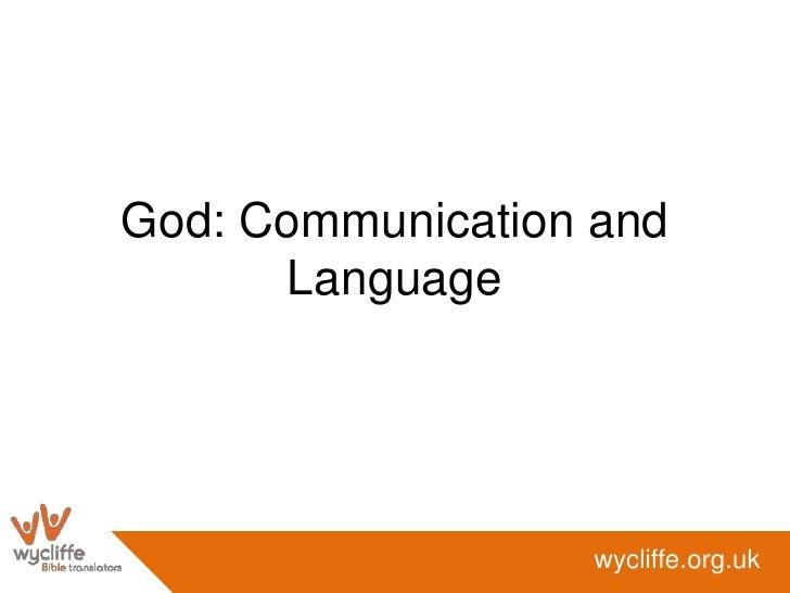 God: Communication and Language<br />