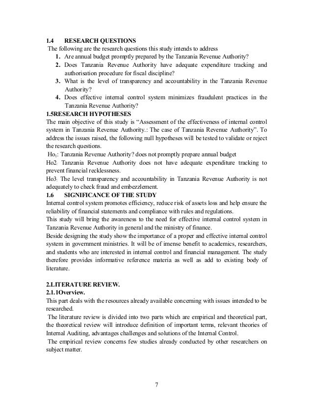 research proposal udsm