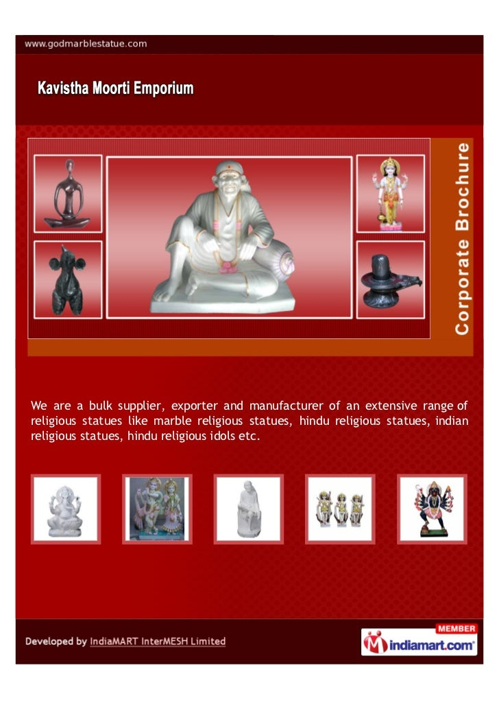 We are a bulk supplier, exporter and manufacturer of an extensive range ofreligious statues like marble religious statues,...