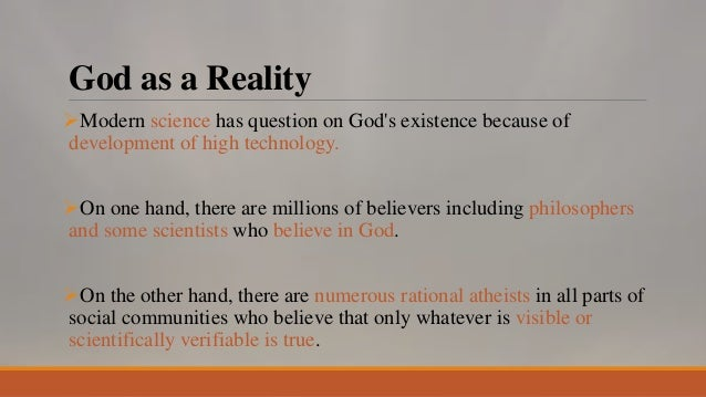a philosophical overview of the existence of god in science