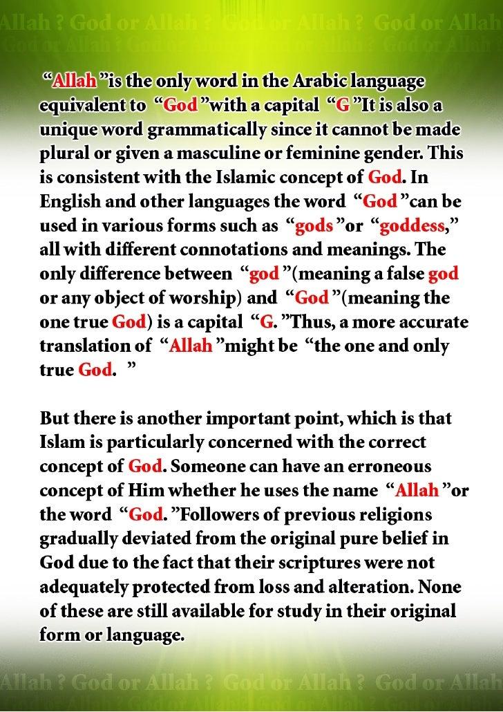 God Or Allah Slide 3