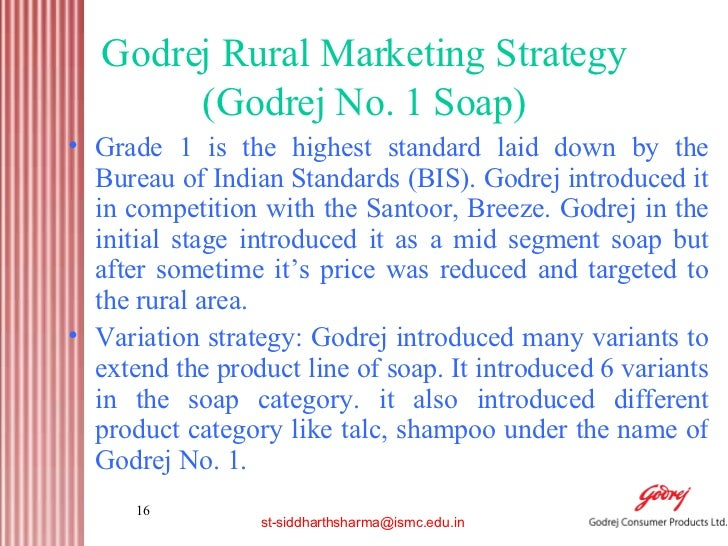 the rural strategies of godrej consumer products marketing essay Mart, the specialist rural marketing and rural development consultancy has found that 53 per cent of fmcg sales lie in the rural areas, as do 59 per cent of consumer durable sales, said its head pradeep kashyap at the seminar.