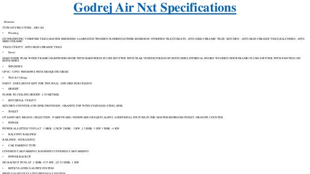 Godrej Air Nxt At www godrejairnxt in