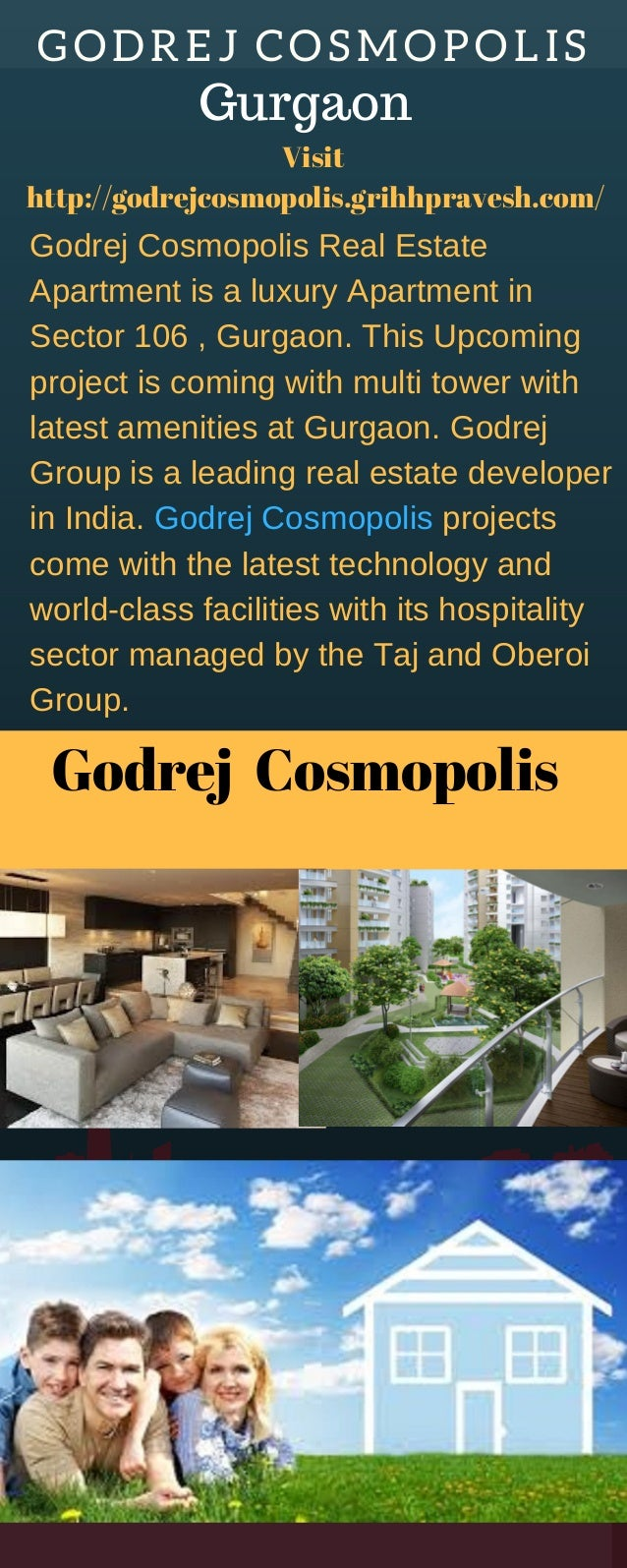 GODREJ� COSMOPOLIS Godrej� Cosmopolis Godrej Cosmopolis Real Estate Apartment is a luxury Apartment in Sector 106 , Gurgao...